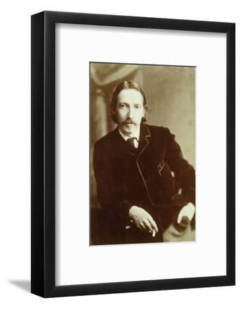 Robert Louis Stevenson, Scottish author, c1870-1894-Unknown-Framed Photographic Print