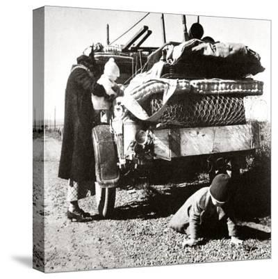 Example of the way that 'Okies' travelled west, 1937-Unknown-Stretched Canvas Print