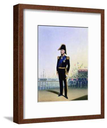 William IV, King of the United Kingdom, c1830-1837-L Mansion-Framed Giclee Print
