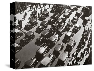 Traffic jam on Fifth Avenue at 49th Street, New York, USA, early 1929-Unknown-Stretched Canvas Print