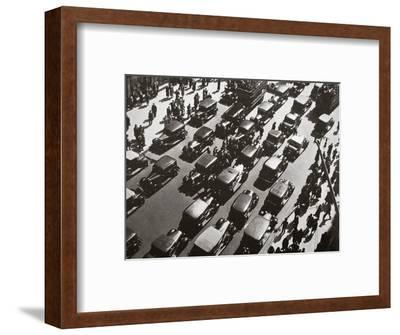 Traffic jam on Fifth Avenue at 49th Street, New York, USA, early 1929-Unknown-Framed Photographic Print