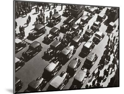 Traffic jam on Fifth Avenue at 49th Street, New York, USA, early 1929-Unknown-Mounted Photographic Print