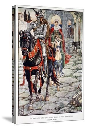 'Sir Geraint and the Lady Enid in the Deserted Roman Town', 1911-Unknown-Stretched Canvas Print