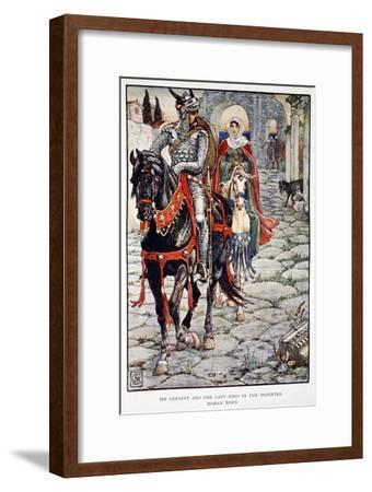 'Sir Geraint and the Lady Enid in the Deserted Roman Town', 1911-Unknown-Framed Giclee Print