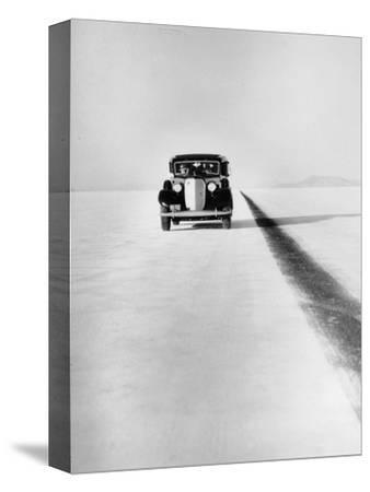 A Ford Lincoln on the Bonneville Salt Flats, Utah, 1935-Unknown-Stretched Canvas Print