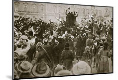 Celebrating the end of the First World War, London, November 1918-Unknown-Mounted Photographic Print