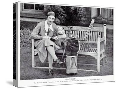 Enid Wilson, British ladies champion (1931-33), c1930s-Unknown-Stretched Canvas Print