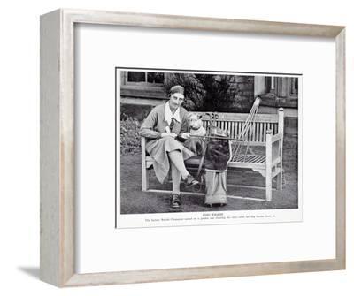 Enid Wilson, British ladies champion (1931-33), c1930s-Unknown-Framed Giclee Print
