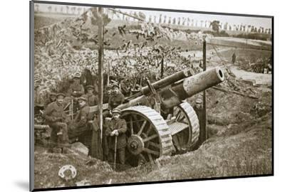 A heavy howitzer, Somme campaign, France, World War I, 1916-Unknown-Mounted Photographic Print