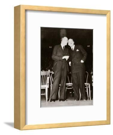 American Communist leaders William Foster and Earl Browder, 1940-Unknown-Framed Photographic Print