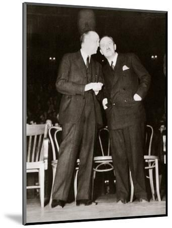 American Communist leaders William Foster and Earl Browder, 1940-Unknown-Mounted Photographic Print