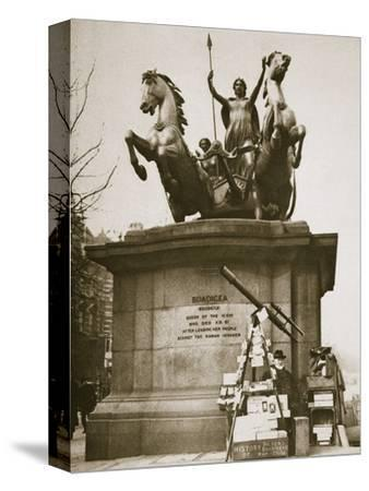 Monument to Boadicea, Westminster Bridge, London, c1926-1927-Unknown-Stretched Canvas Print
