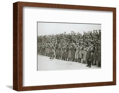 Australians cheer King George V, France, World War I, 1916-Unknown-Framed Photographic Print
