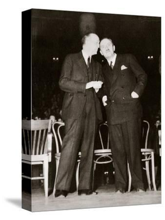 American Communist leaders William Foster and Earl Browder, 1940-Unknown-Stretched Canvas Print