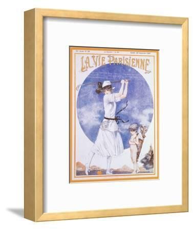 Cover of La Vie Parisienne, French magazine, 23 September 1922-Unknown-Framed Giclee Print