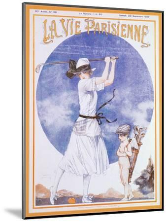 Cover of La Vie Parisienne, French magazine, 23 September 1922-Unknown-Mounted Giclee Print
