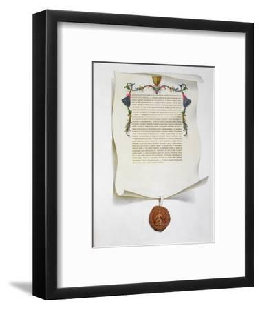 Facsimile edition of the Magna Carta, English charter, 1215 (1816)-Unknown-Framed Giclee Print