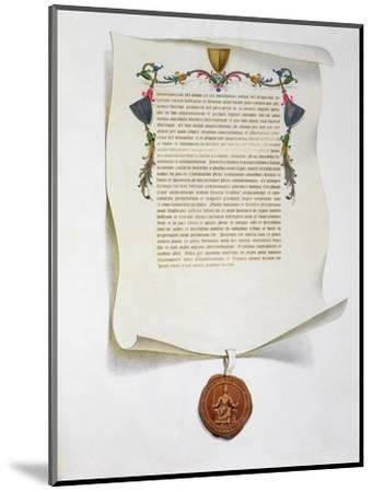 Facsimile edition of the Magna Carta, English charter, 1215 (1816)-Unknown-Mounted Giclee Print
