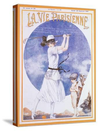 Cover of La Vie Parisienne, French magazine, 23 September 1922-Unknown-Stretched Canvas Print