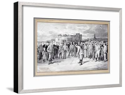 Scene from the Amateur Golf Championship, St Andrews, 1895-Unknown-Framed Giclee Print