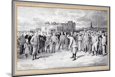 Scene from the Amateur Golf Championship, St Andrews, 1895-Unknown-Mounted Giclee Print