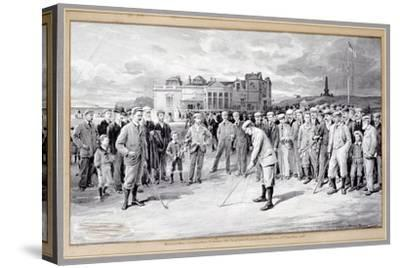 Scene from the Amateur Golf Championship, St Andrews, 1895-Unknown-Stretched Canvas Print