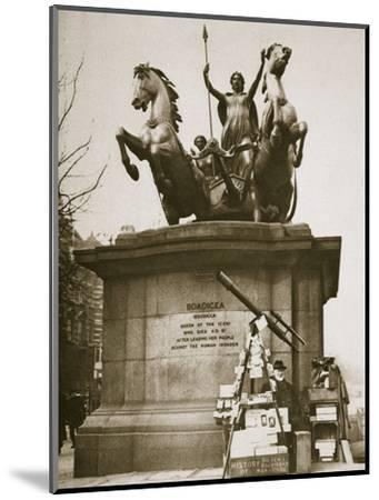 Monument to Boadicea, Westminster Bridge, London, c1926-1927-Unknown-Mounted Photographic Print
