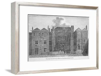 'Oliver Cromwell's House, Clerkenwell Close', London, 19th century-Unknown-Framed Giclee Print