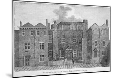 'Oliver Cromwell's House, Clerkenwell Close', London, 19th century-Unknown-Mounted Giclee Print