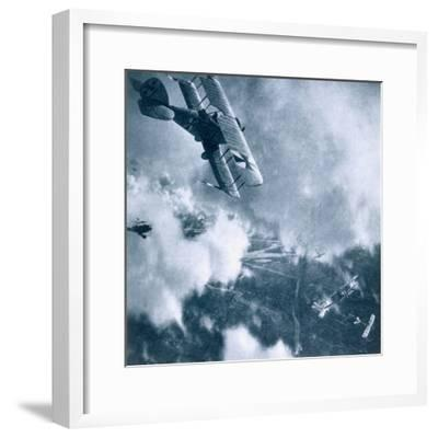 Aerial combat on the Western Front, World War I, 1914-1918-Unknown-Framed Photographic Print