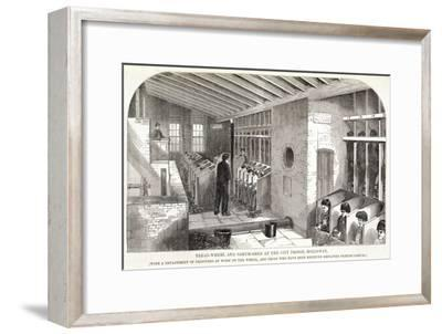 'Tread-Wheel and Oakum-Shed at the City Prison, Holloway', London, 1862-Unknown-Framed Giclee Print