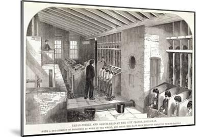 'Tread-Wheel and Oakum-Shed at the City Prison, Holloway', London, 1862-Unknown-Mounted Giclee Print