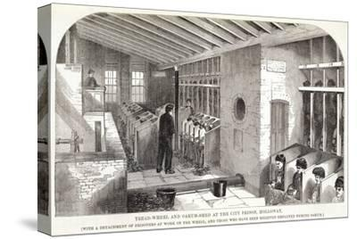 'Tread-Wheel and Oakum-Shed at the City Prison, Holloway', London, 1862-Unknown-Stretched Canvas Print