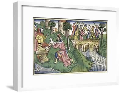 2 Kings 16:9-16: the people of Damascus are taken captive-Unknown-Framed Giclee Print