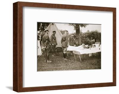 King George V conversing with wounded officers, France, World War I, 1916-Unknown-Framed Photographic Print
