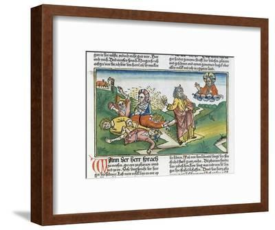 Exodus 9:8-12: Moses and the plague of boils, one of the Seven Plagues of Egypt-Unknown-Framed Giclee Print