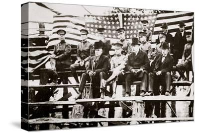 President Warren G Harding at a baseball park, Fort Benning, Georgia, USA, early 1920s-Unknown-Stretched Canvas Print