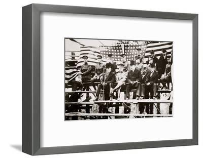 President Warren G Harding at a baseball park, Fort Benning, Georgia, USA, early 1920s-Unknown-Framed Photographic Print