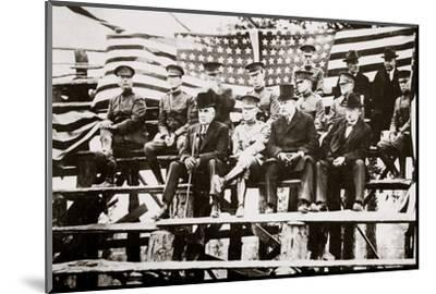 President Warren G Harding at a baseball park, Fort Benning, Georgia, USA, early 1920s-Unknown-Mounted Photographic Print