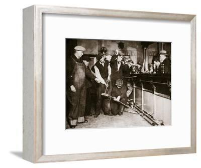 A bar in Camden, New Jersey, being forcibly dismantled by dry agents, USA, 1920s-Unknown-Framed Photographic Print