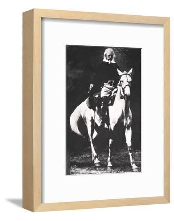 Buffalo Bill towards the end of his Wild West Show days, late 19th or early 20th century-Unknown-Framed Photographic Print