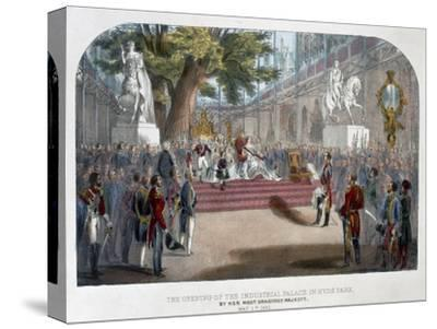 The opening by Queen Victoria of the Industrial Palace in Hyde Park, May 1st 1851-Unknown-Stretched Canvas Print