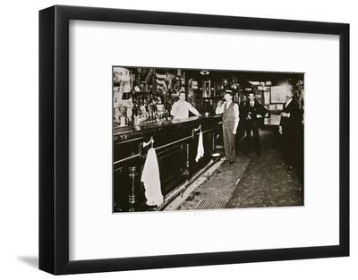 Steve Brodie in his bar, the New York City Tavern, New York City, USA, c1890s-Unknown-Framed Photographic Print