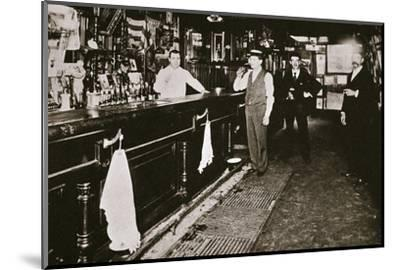 Steve Brodie in his bar, the New York City Tavern, New York City, USA, c1890s-Unknown-Mounted Photographic Print