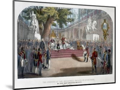 The opening by Queen Victoria of the Industrial Palace in Hyde Park, May 1st 1851-Unknown-Mounted Giclee Print