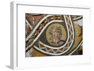 Pavement mosaic depicting the god Bacchus-Werner Forman-Framed Giclee Print