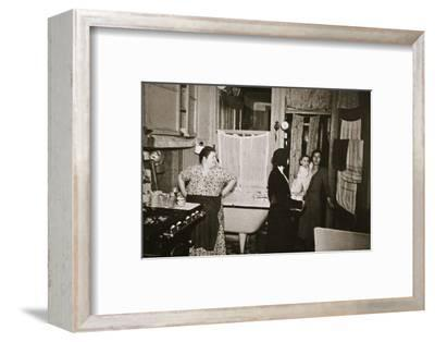 Residents of a tenement, Henry Street, Lower East Side, Manhattan, New York, USA, early 1930s-Unknown-Framed Photographic Print