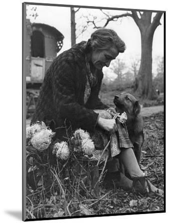 Gypsy woman with dog, 1960s-Tony Boxall-Mounted Photographic Print