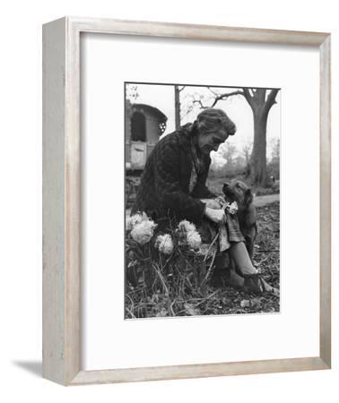 Gypsy woman with dog, 1960s-Tony Boxall-Framed Photographic Print