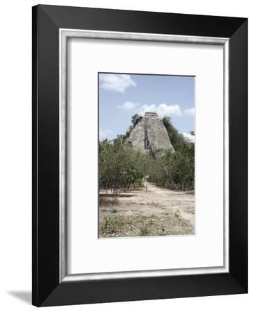 The 'Nohoch Mul' pyramid at Coba, Yucatan, Mexico, Maya, 6th-9th century-Werner Forman-Framed Photographic Print